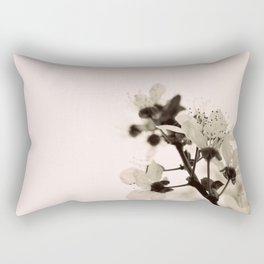 Blossoms Monochrome Rectangular Pillow