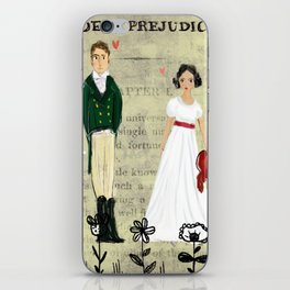 Mr.Darcy of Pemberley and Miss Bennet of Longbourn iPhone Skin