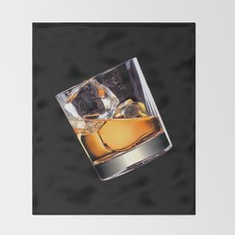 Whisky on the Rocks Throw Blanket