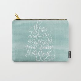 The Cure for Anything is Salt Water Carry-All Pouch