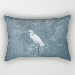 Snow Crane Rectangular Pillow