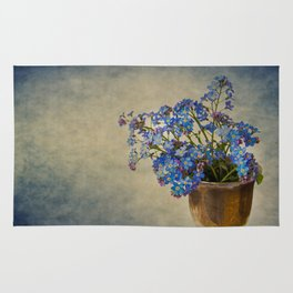 Forget-me-not flowers Rug