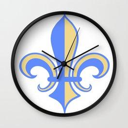 Two Tone Fleur-de-Lis Wall Clock