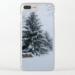 New England Winter Clear iPhone Case