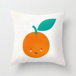 Miss Cheeky Orange Throw Pillow