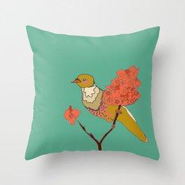 sur la branche Throw Pillow