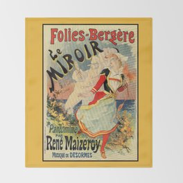 French belle epoque mime theatre advertising Throw Blanket
