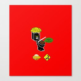 Dump in Toilets with Dirty Suites Canvas Print