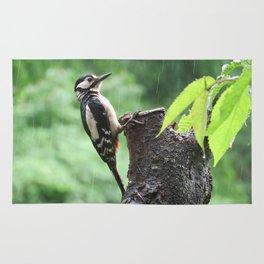 Wet woodpecker Rug