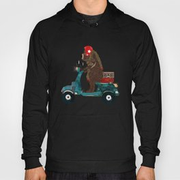 scooter bear Hoody