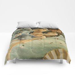 "Sandro Botticelli ""The Birth of Venus"" 3. Zephyr and his companion Comforters"