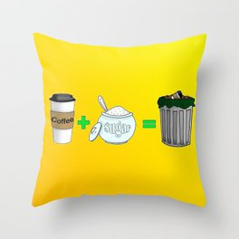 Coffee Math Throw Pillow