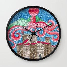 Christmas Ball Octopus Wall Clock