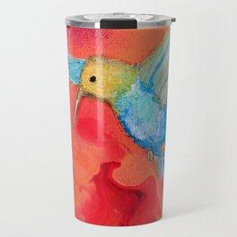 Autumn Hummingbird Travel Mug