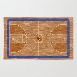 Wooden Basketball Court Rug