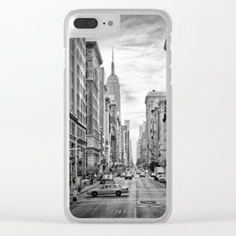 NEW YORK CITY 5th Avenue   Monochrome Clear iPhone Case