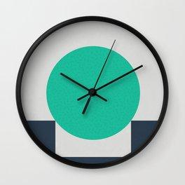 No Way Back / Cyan & Dark Blue Wall Clock