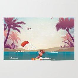 Kite surfer Woman Theme Rug