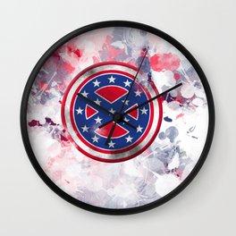 Rebel Captain Confederate Wall Clock