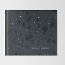 We are floating in space Throw Blanket