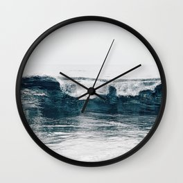 Glassy Blues Wall Clock