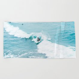 Wave Surfer Turquoise Beach Towel