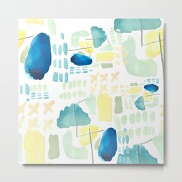 Busy -abstract Metal Print