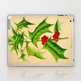 ILEX CORNUTA Vintage Botanical Floral Flower Plant Scientific Illustration Laptop & iPad Skin