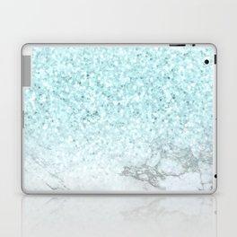Turquoise Sea Mermaid Glitter Marble Laptop & iPad Skin