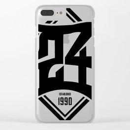 D24 Designs logo Clear iPhone Case