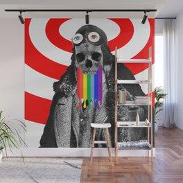 Rainbow Skull Pilot Wall Mural