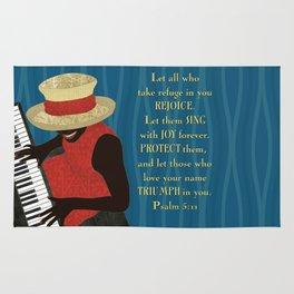 Praise and Worship Piano Player Rug