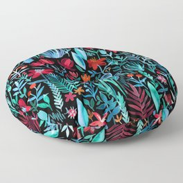 Though I Walk at Night Floor Pillow