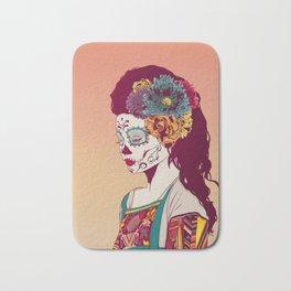 Mexican Skull Lady Bath Mat