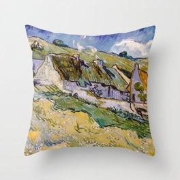 """Vincent van Gogh """"Cottages"""" Throw Pillow"""