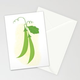 Snap peas Stationery Cards