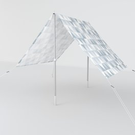 shades of ice gray triangles pattern Sun Shade