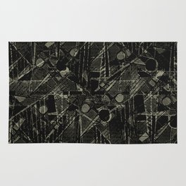 Abstract Collage Patchwork Pattern Rug