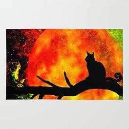 BLACK CAT HARVEST MOON 2018 Rug