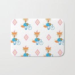 Girl Fox with Pink Diamond Bath Mat