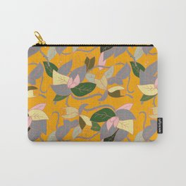 Floral and thorn pattern Carry-All Pouch