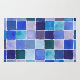 Blue Squares Rug