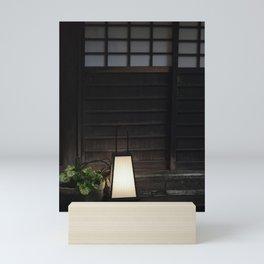 Japanese Lantern Outside Old House Mini Art Print