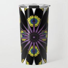 Stylized Flower Travel Mug