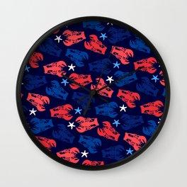 Lobsters Pattern Wall Clock