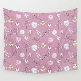 Sweet Pink Wall Tapestry