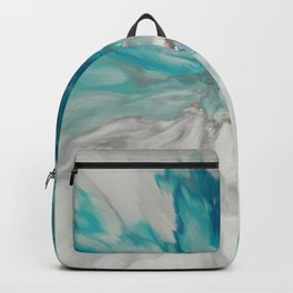 Blown Away - Abstract Acrylic Art by Fluid Nature Backpack