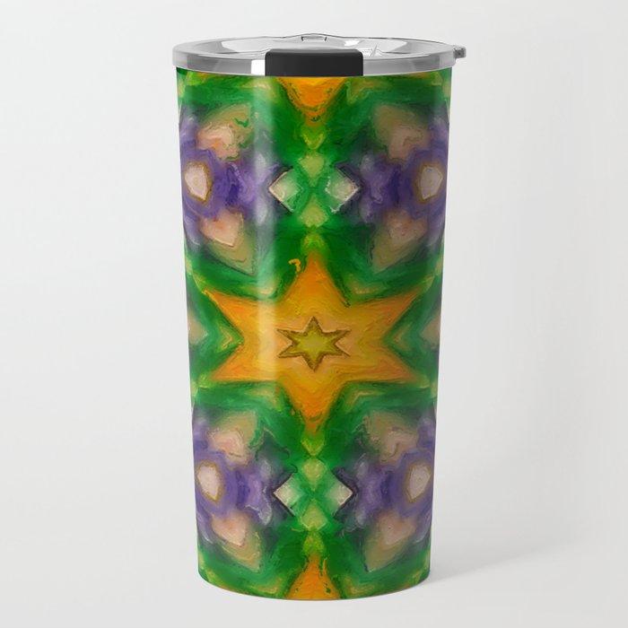 Mardi Gras stars #4509 Travel Mug