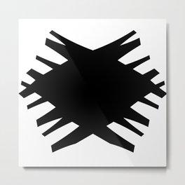 Accordian X | black Metal Print
