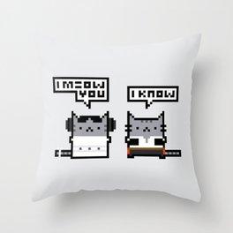 I Meow You - Cat Wars Throw Pillow